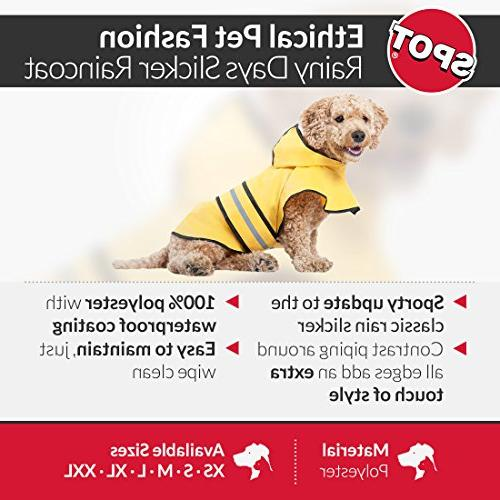 Fashion Rainy Slicker Yellow for large, small Dog rain gear - Dog by Looking