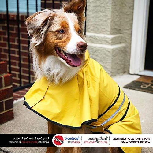 Fashion Pet Rainy Slicker Yellow for large, and small gear by Looking Good