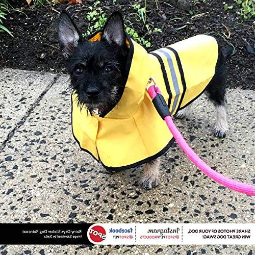 Fashion Slicker for large, medium small dogs. rain gear by Looking Good