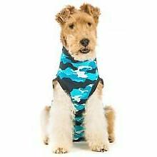 recovery suit for dogs blue camo size