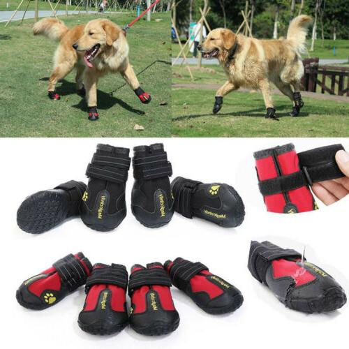 reflective dog shoes for large dogs waterproof