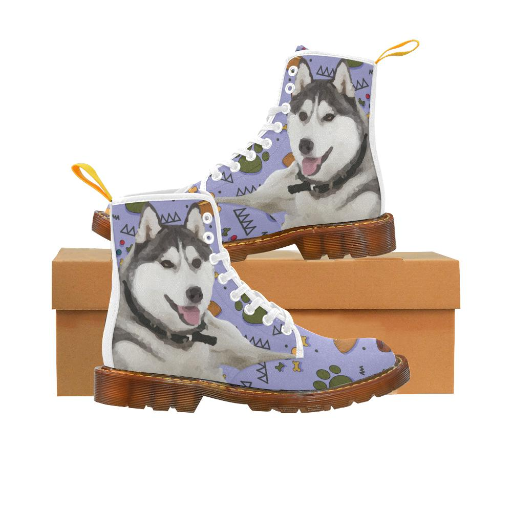 Siberian Dog Fashion Shoes Lace Martin for