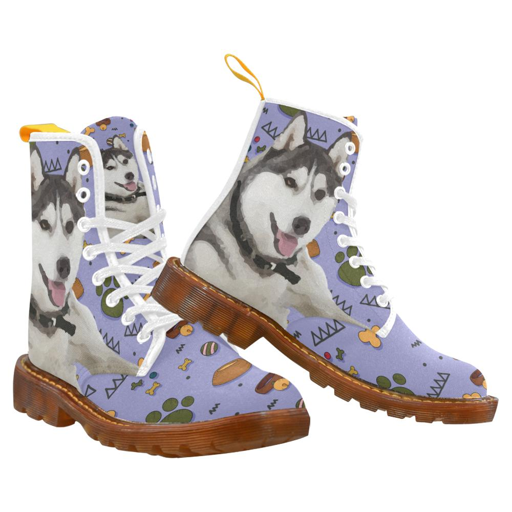 siberian husky dog fashion shoes lace up