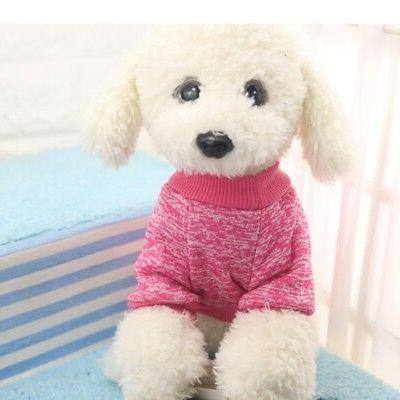 Small Soft Dog Sweater Pullover Pet Outfit