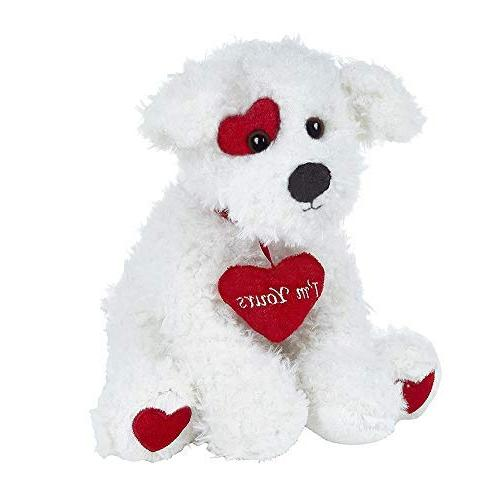 Bearington Poochie Valentines Plush Animal Dog with 10 inches