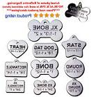 Stainless steel pet ID tags 2-side custom engraving 21 style