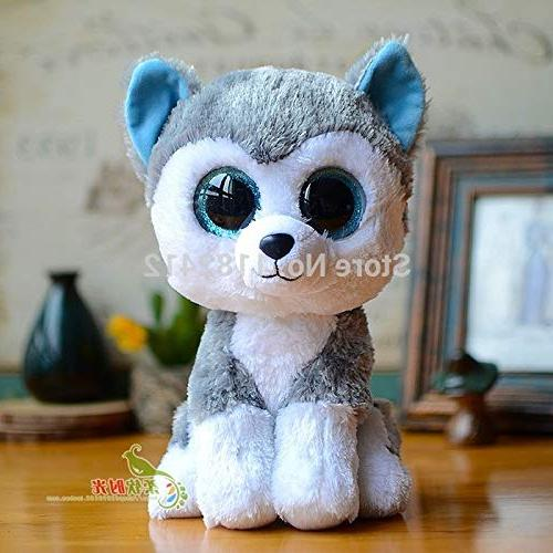 WATOP Stuffed ty Beanie | Dogs Slush Husky Whiskers Dog 15cm