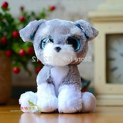 WATOP Stuffed Animals - ty | Beanie boos Animals Dogs Husky Whiskers Patsy Chihuahua Dog 15cm