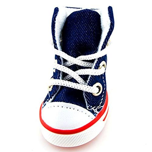 SMALLLEE_LUCKY_STORE Boys Denim Lace up Sneaker Blue