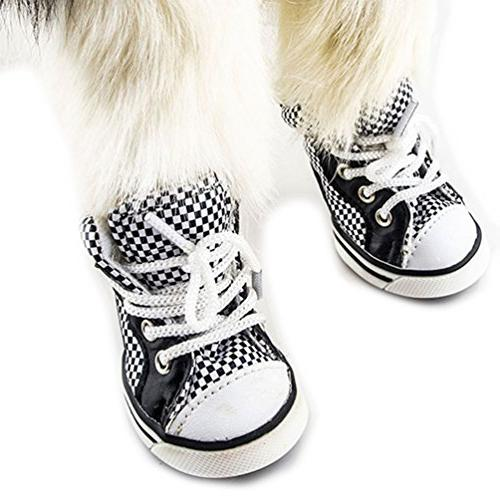 SMALLLEE_LUCKY_STORE Boys Summer Plaid Canvas Sneaker Black/White