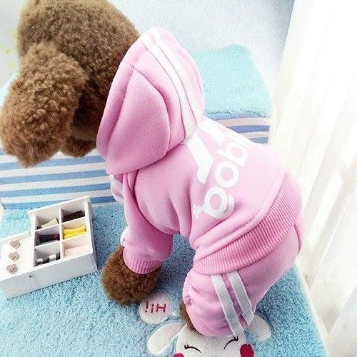 Super Cute Adidog Hoodie Sweater Clothes For Pet Cat
