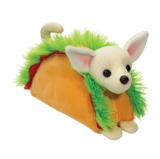 taco chihuahua macaroon 8 inch cuddle toy