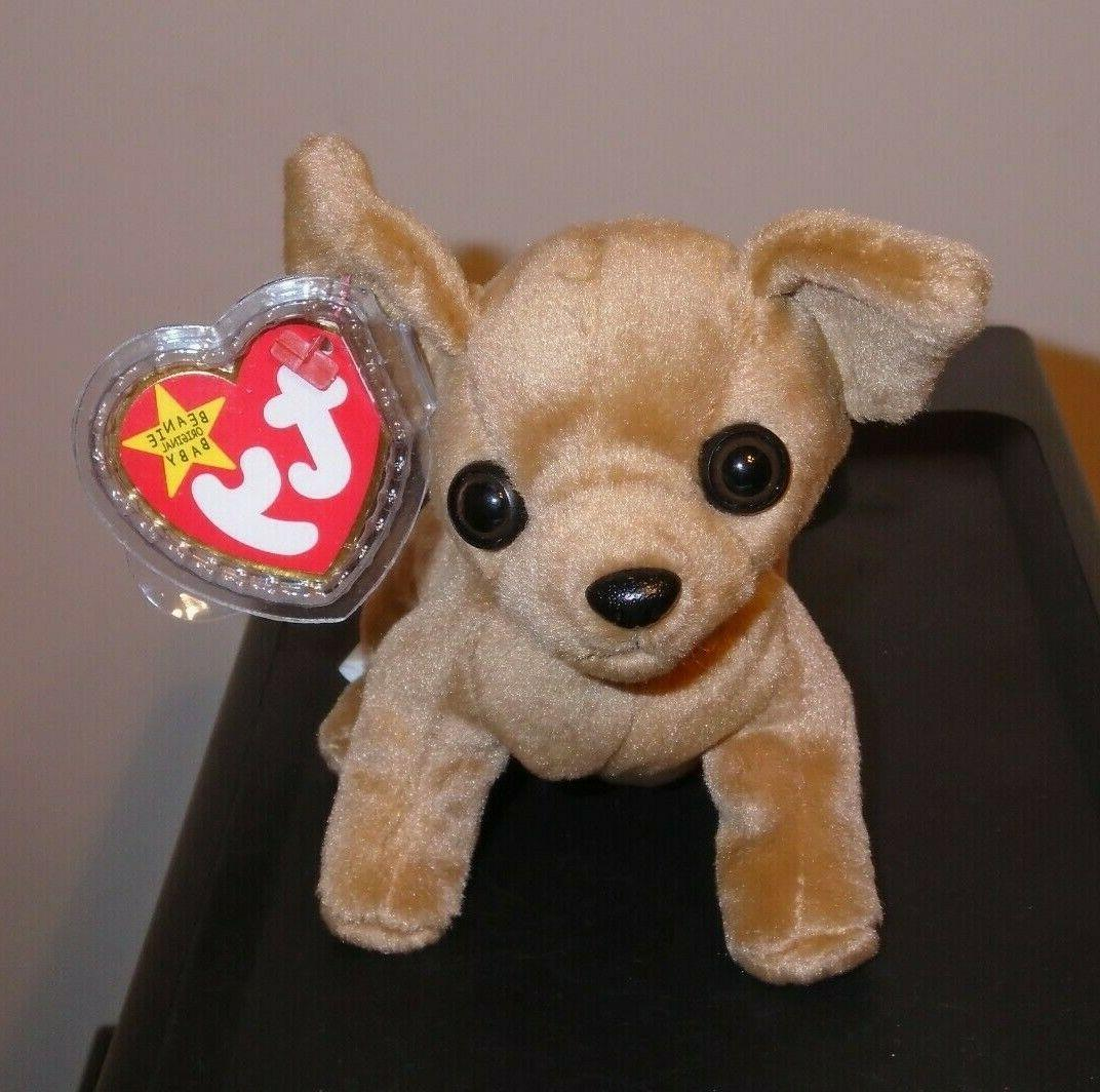 Ty Beanie Baby ~ TINY the Chihuahua Dog  MWMT