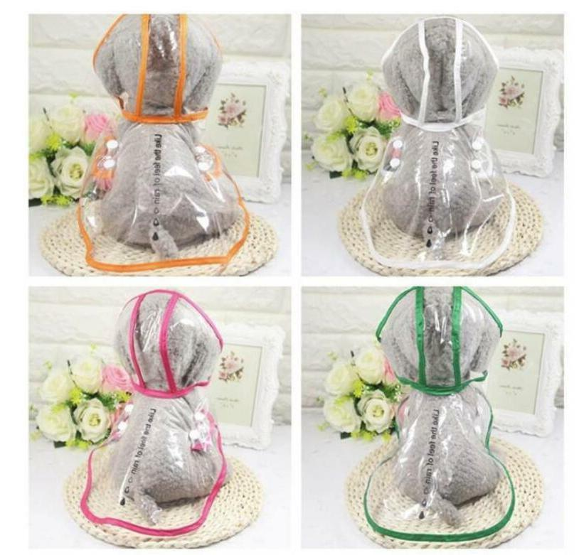 Transparent Coat For Dogs Pet Cute Casual Clothes