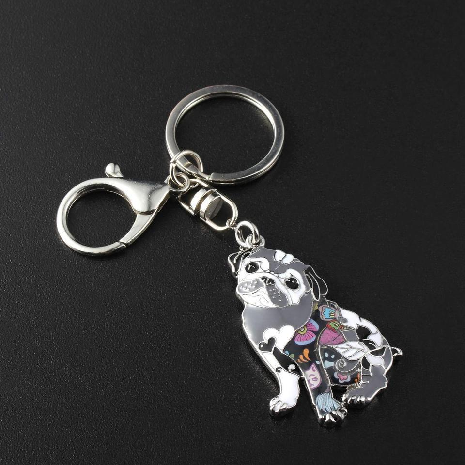Unique Dog Keychain for Women Colorful Pets Dog Charm Keyring