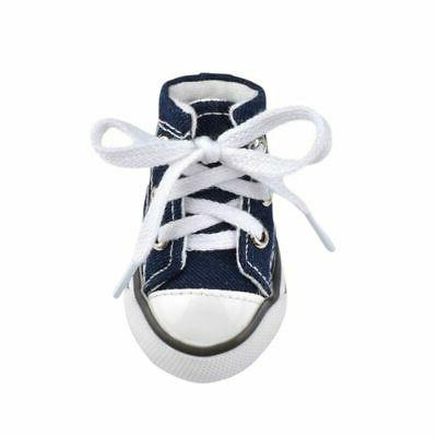 US Pet Anti-slip Shoes Puppy Denim Small
