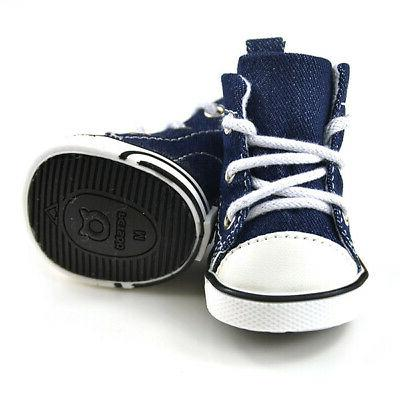 Anti-slip Denim Sneakers Small Dogs
