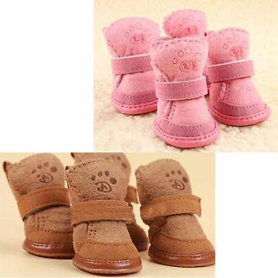 warm winter pet dog boots puppy shoes