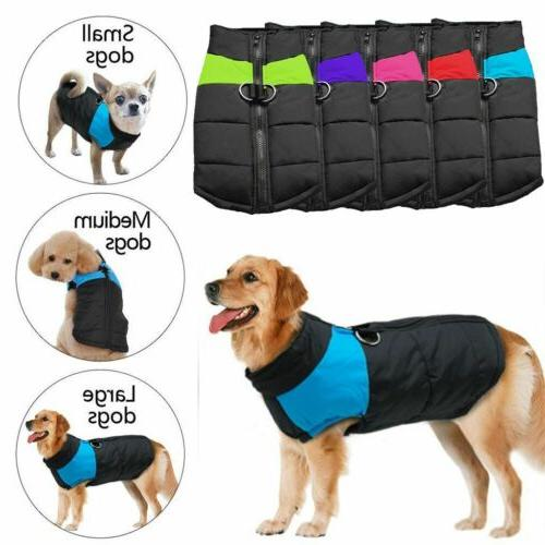 waterproof pet dog clothes winter warm padded