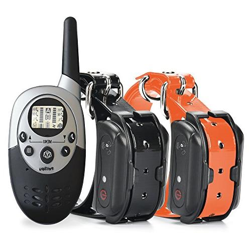 PetSpy Waterproof Rechargeable Dog Collar with Beep, and 2 Dogs