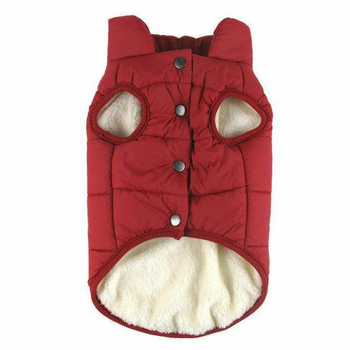 Winter Padded Clothes Vest Jacket Dogs 7 Size