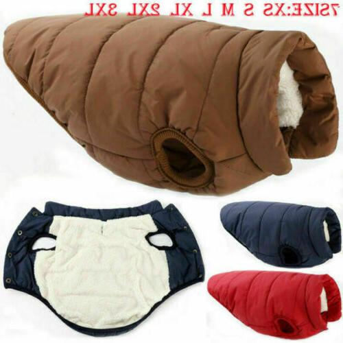 winter warm padded dog clothes waterproof pet