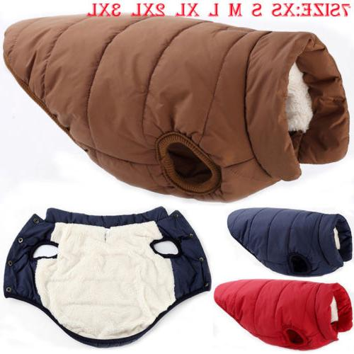 Winter Padded Dog Clothes Waterproof Coats Vest for 7 Size