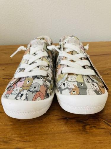 Womens Bobs Beach Dog Party Casual Slip-On Shoes Memory