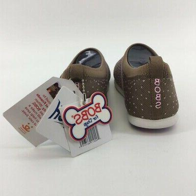 BOBS Dogs Comfort Shoes Knit Memory Polka Dot 5 New