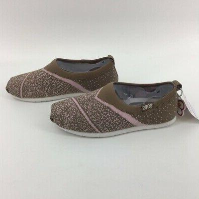 BOBS For Womens Comfort Flat Knit Dot