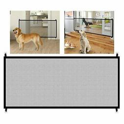 Large Pet Dog Baby Safety Gate Mesh Fence Portable Guard Ind