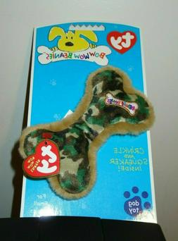 Ty Bow Wow Beanies ~ LIL' CAMOUFLAGE BONE - Crinkle/Squeak T