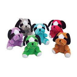 lot of 12 assorted color stuffed bull