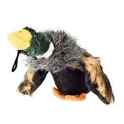 miaosun Mallard Duck Squeaky Dog Chew Toys Tough Plush Pet T