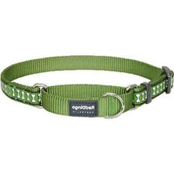 Red Dingo MC-RB-GR-LG Martingale Dog Collar Reflective Green