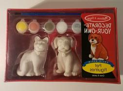 Melissa & Doug Decorate Your Own Pet Figurines, Solid Resin,
