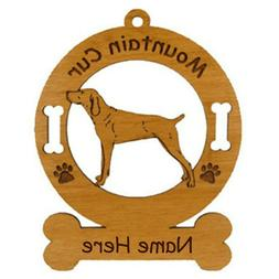 Mountain Cur Standing Dog Ornament Personalized With Your Do