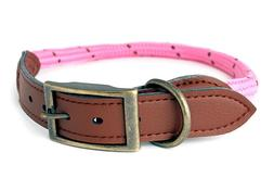 Douglas Paquette MOUNTAIN ROPE Hot Pink Braided Nylon & Leat