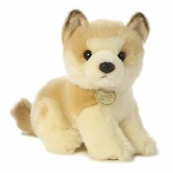 New AURORA MIYONI Stuffed Plush Toy AKITA PUPPY Animal JAPAN