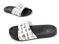 New Bobs For Dogs By Skechers Womens Cat Print Sandal Slides