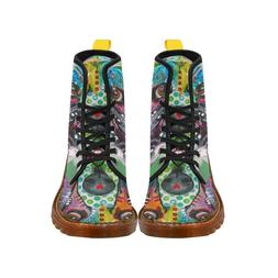 NEW coming Custom Comfortable Women Lace Up Colorful Dog Mar