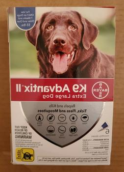 NEW K9 Advantix II for EXTRA LARGE DOG over 55lbs 6 Pack