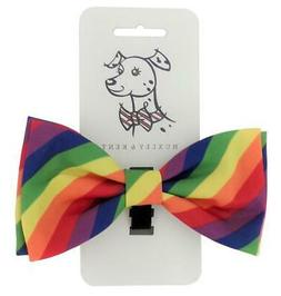 NEW Rainbow Stripe Pride Dog Bow Tie Collar Attachment by Hu