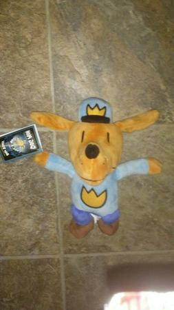 NEW with Tag! MerryMakers Dog Man Plush Toy 9.5 Inches