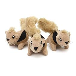 Outward Hound Kyjen  2858 Squeakin' Animals 3-Pack Jr. Hide-