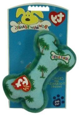 Ty Bow Wow Beanies ~ PALM TREES BONE - Crinkle/Squeak Toy ~