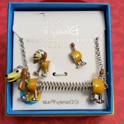 Disney Parks Toy Story Slinky Dog Necklace & Earrings NWT +