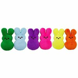 Peeps Mini Plush Bunny Toys for Dogs and Puppies, Pack of 6