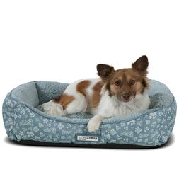 Pet Bed for Dogs & Cats - Plush Soft Printed Lounger Cushion