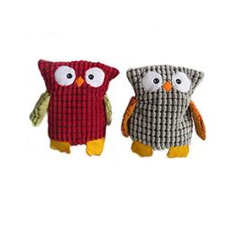 Stock Show 2Pcs Pet Corduroy Plush Squeaky Toy Cute Cartoon